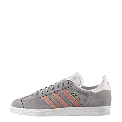 38401d2b15d adidas Originals Women's Gazelle W Sneaker, Grey/Raw Pink/White, 11 M US:  Amazon.co.uk: Shoes & Bags