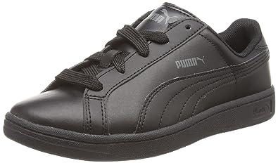 Puma Unisex Kids Smash L Low-Top Trainer Black Size: 3