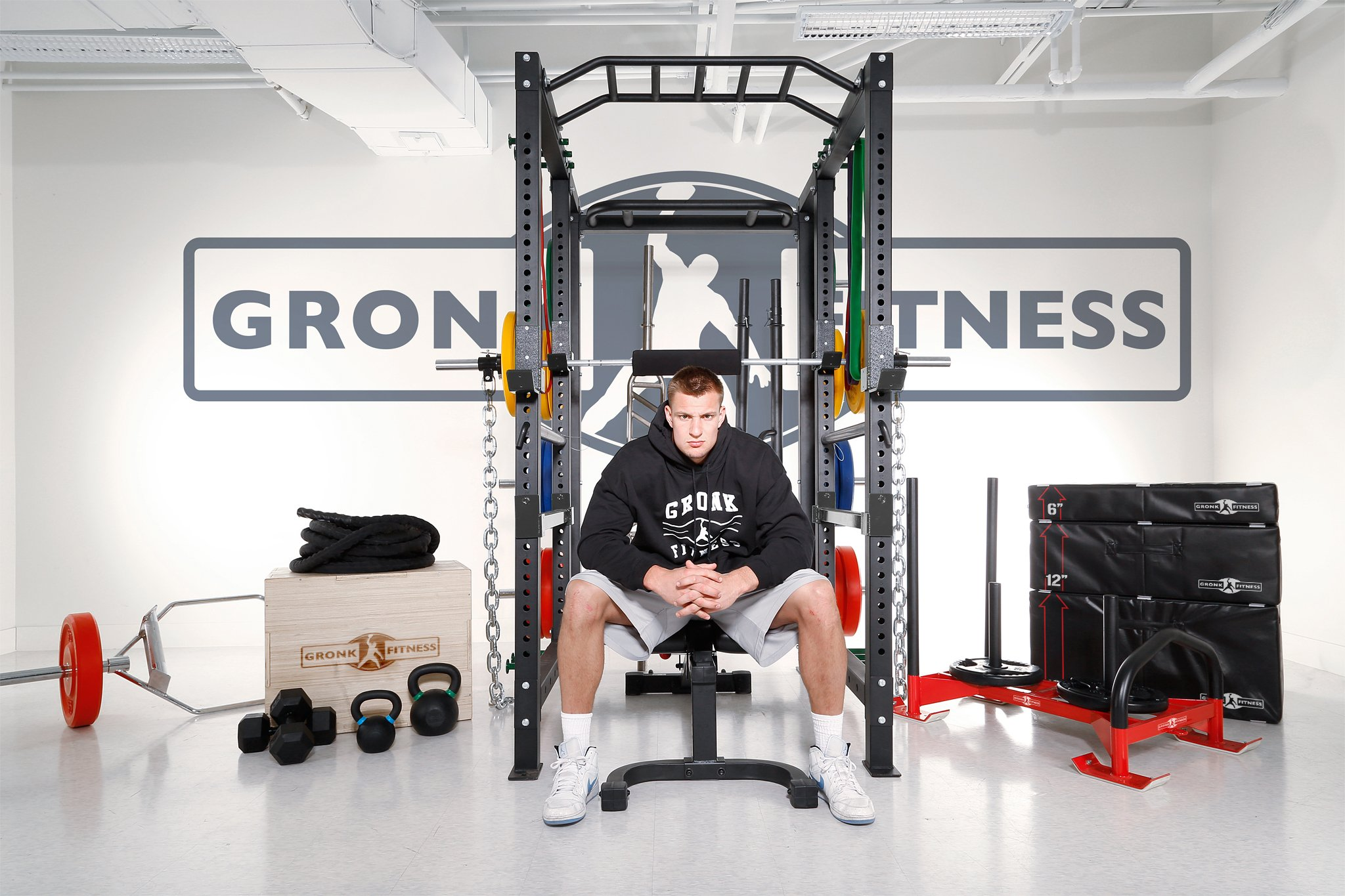 Gronk Fitness Soft Plyo Box Set. 6'' 12'' & 18'' - Commercial Grade