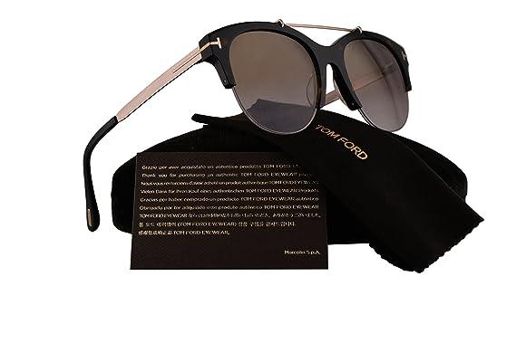 fe416d6fb9 Amazon.com  Tom Ford FT0517 Adrenne Sunglasses Dark Havana w Brown ...