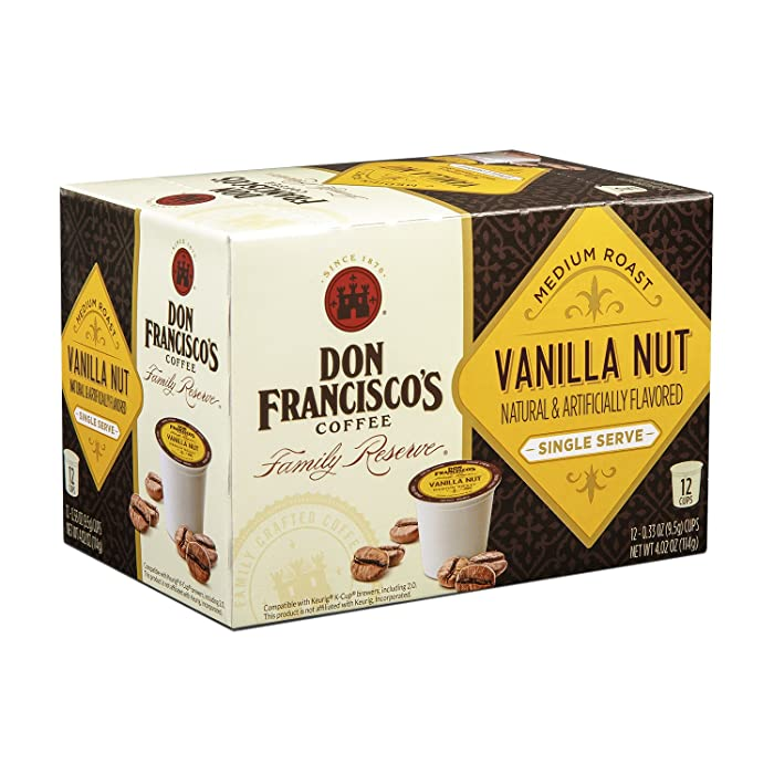 Don Francisco's Vanilla Nut Flavored Single Cup Coffee Pods, 12 ct