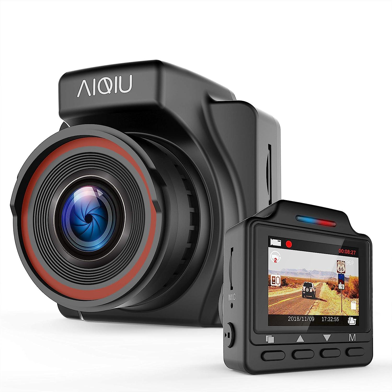 1296P FHD Car Driving Recorder 1.5 Mini Night Vision Vehicle Dashboard Camera with G Black Sensor AIQiu AM000C1 Dash Cam