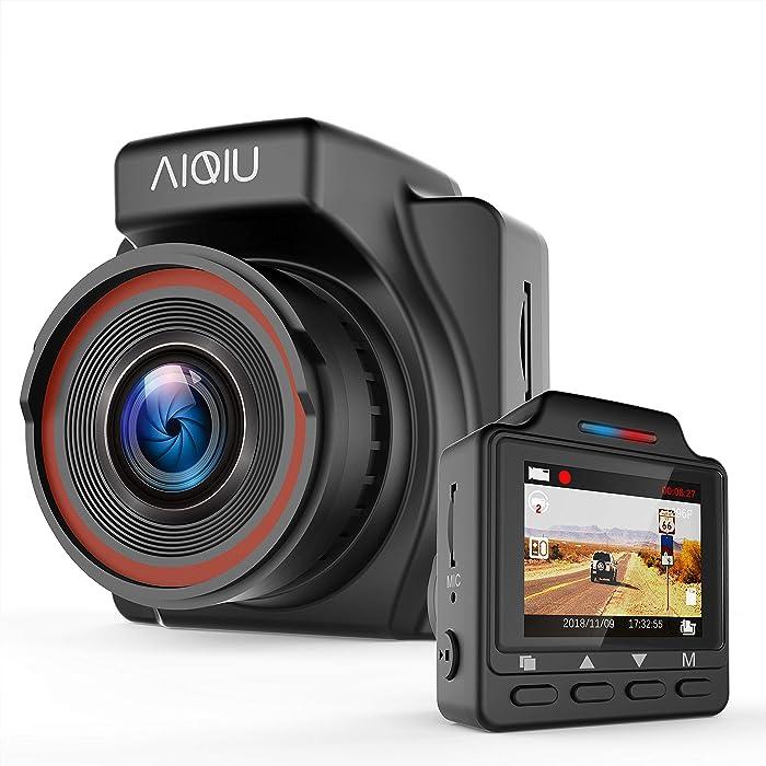 "Dash Cam, AIQiu C1 1296P FHD Car Driving Recorder 1.5"" Mini Night Vision Vehicle Dashboard Camera with G-Sensor, Loop Recording, WDR, Motion Detection, Parking Monitor"