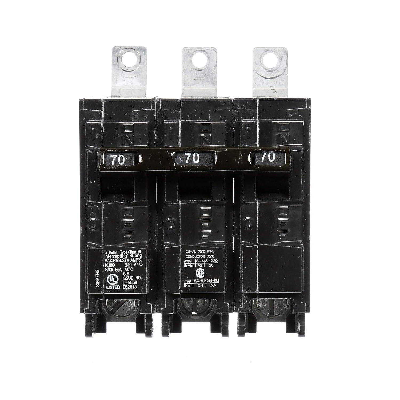 Siemens B370 70-Amp Three Pole 240-Volt 10KAIC Bolt in Breaker Siemens HI