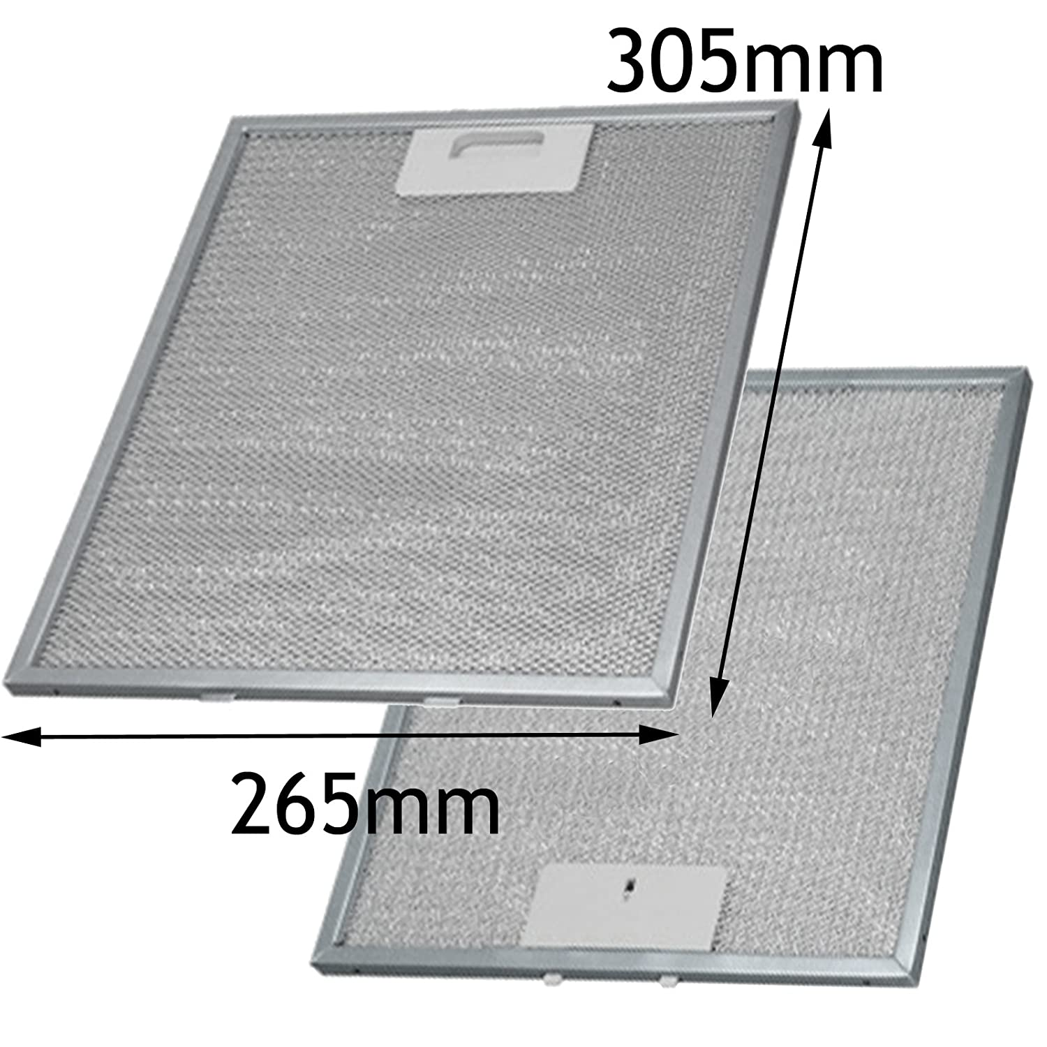 SPARES2GO Aluminium Grease Mesh Filter for IKEA Cooker Hood Fan Vent (305 x 265 mm, Pack of 2)