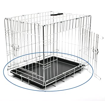DUVO 780/672 bandeja de plástico para jaula con enrejado para perro