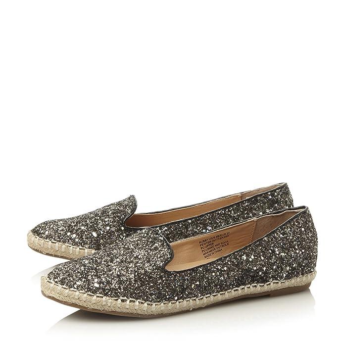 Steve Madden - Mocasines de purpurina para mujer plateado plata: Amazon.es: Zapatos y complementos
