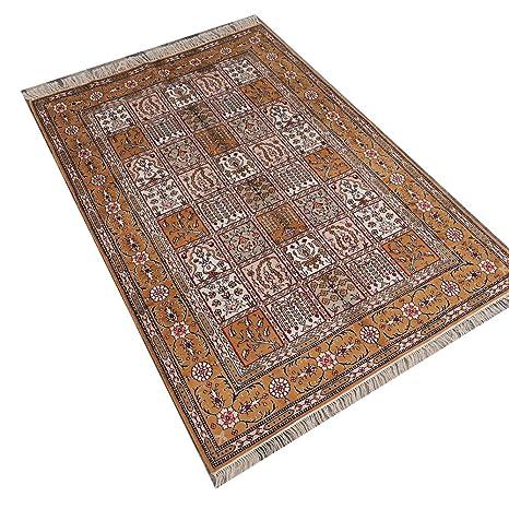 Amazon.com: Camel alfombra 4 x6 lujo hecho a mano persa ...