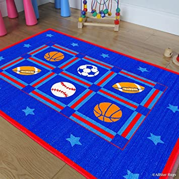 Amazon Com Allstar Kids Baby Room Area Rug Sports Football