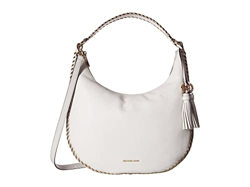 9e6a6d5746fc Amazon.com  MICHAEL Michael Kors Lauryn Large Shoulder Tote Optic White   Shoes