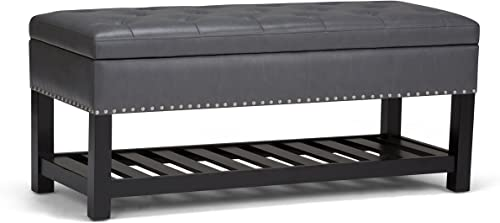 SIMPLIHOME Lomond 43 inch Wide Rectangle Storage Ottoman Bench