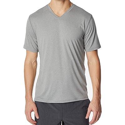 32 DEGREES Mens Small Short Sleeve V Neck Tee Shirt Gray S | .com