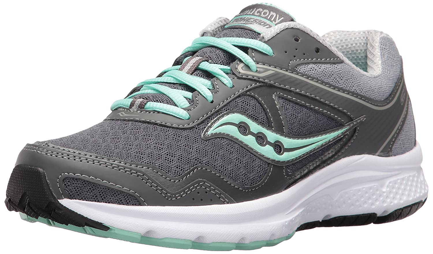 Saucony Women's Cohesion 10 Running Shoe B01HPGM7GQ 8.5 B(M) US|Grey/Mint