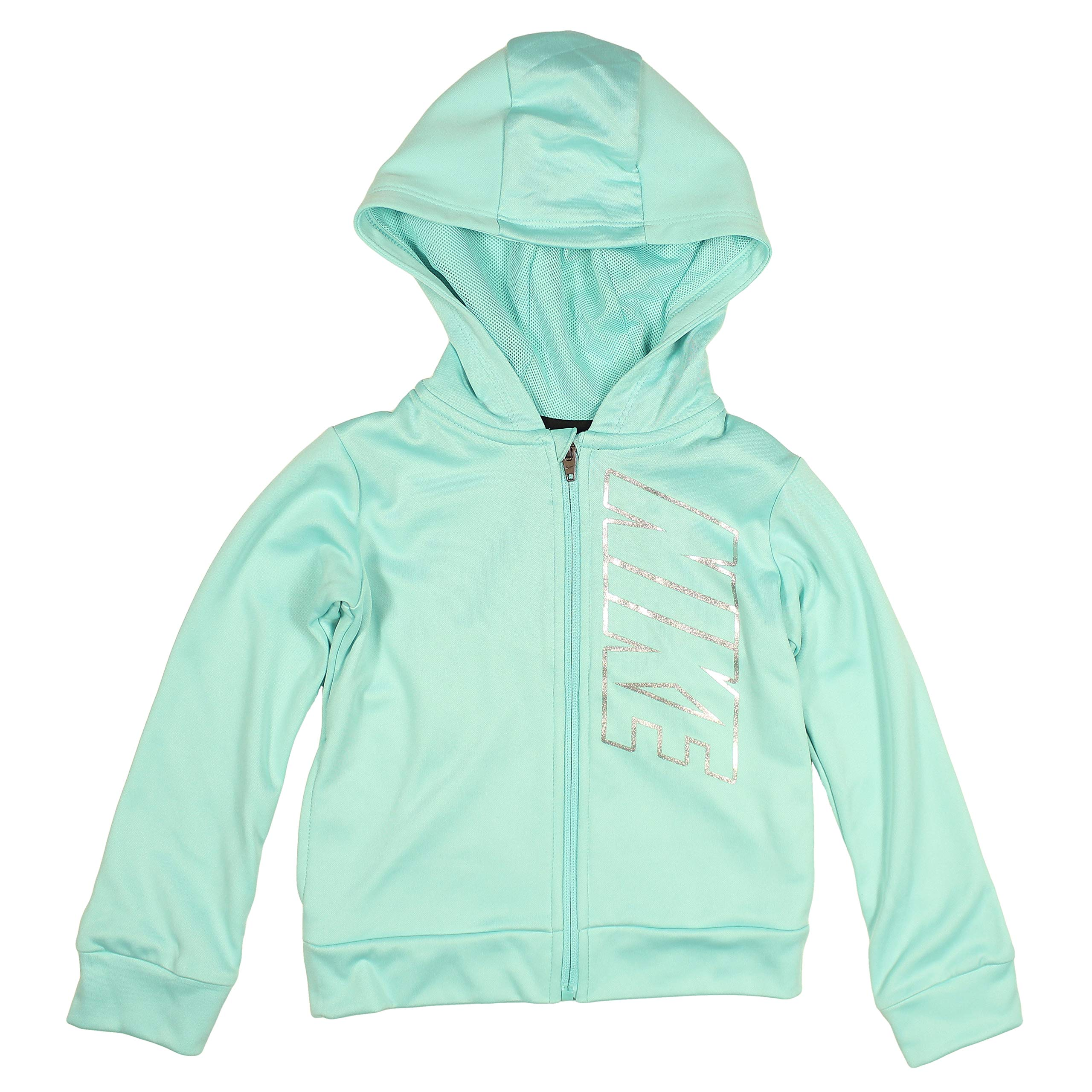 Nike Little Girls' Full Zip Dri-FIt Therma Hoodie (Light Aqua, 6X) by Nike