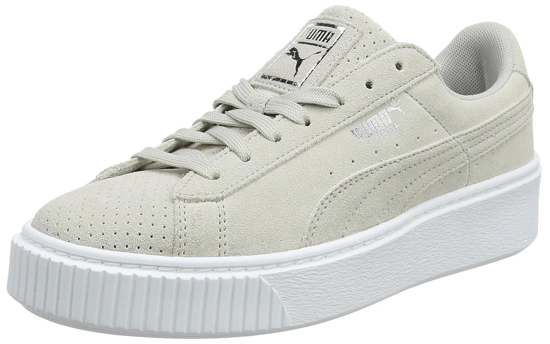 Puma Suede Platform Perf, Zapatillas para Mujer 36 EU|Gris (Gray Violet- Silver)