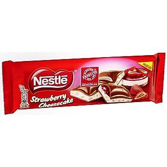Nestlé - Explosíon de Strawbery Cheesecake - Chocolate con Leche Relleno - 240 g: Amazon.es: Alimentación y bebidas