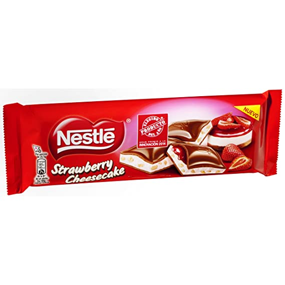 Nestlé - Strawbery Cheesecake - Tableta de Chocolate con Leche Relleno - 3 Paquetes de 240 g: Amazon.es: Alimentación y bebidas