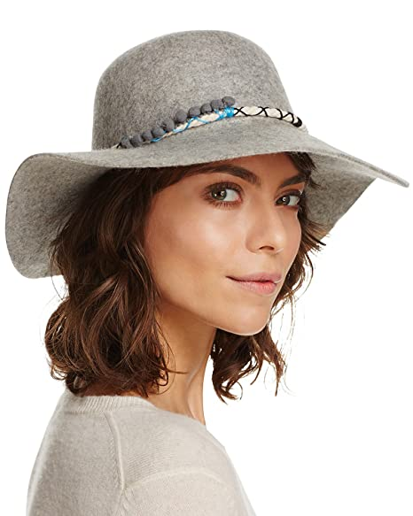 44127d7c Amazon.com: August Hat Women's 14-in Vintage Poms Felt Floppy Hat ...