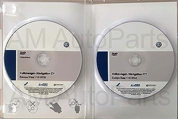 Pack 2 DVD-ROM Volkswagen Navigation CY Europe West V16 + East V16