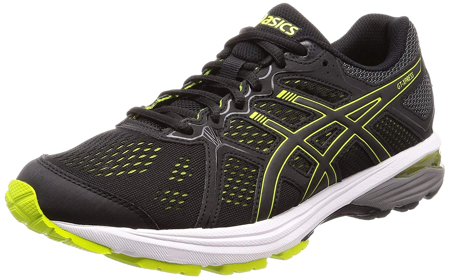 Gt-Xpress Black/Neon Lime Running Shoes