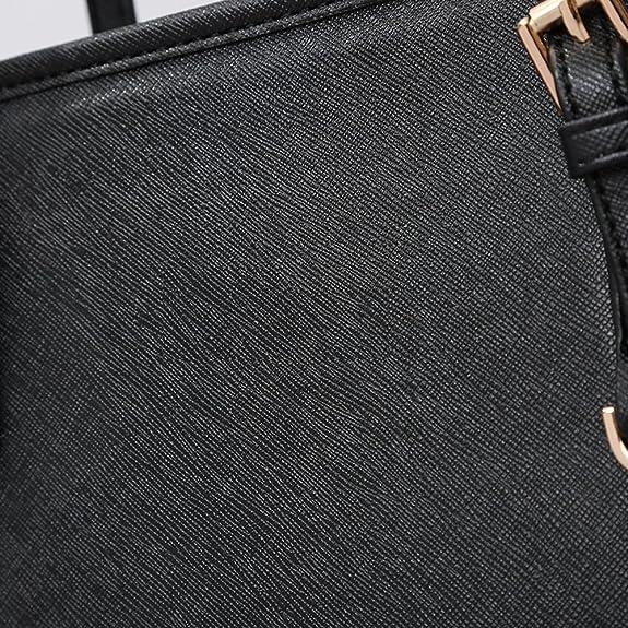 f0971feb68f51 Amazon.com  Solarfun PU Leather Tote Bag Top Handle Handbags for Girls  Women Designer Satchels Purse Ladies Shoulder Bag Large  Shoes