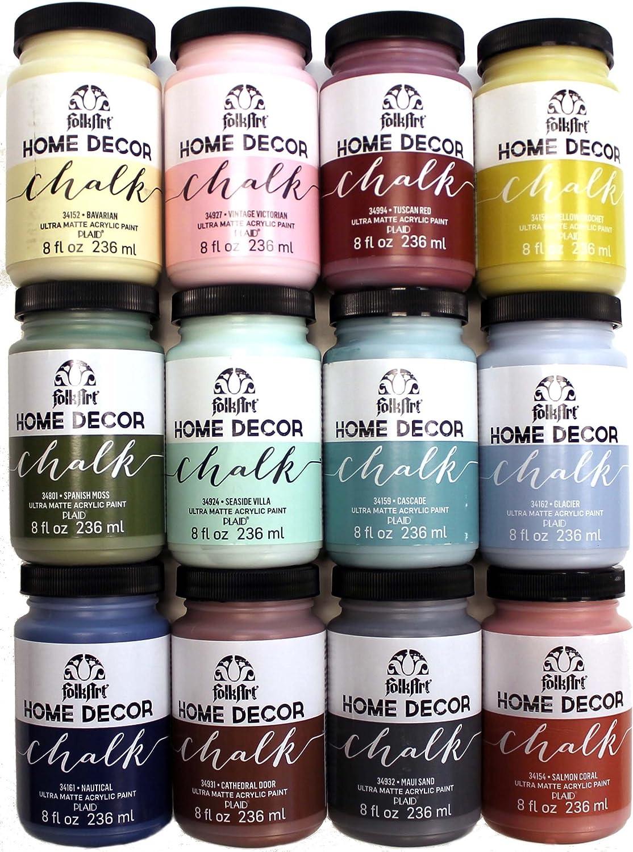FolkArt Home Decor Chalk Paint Set (8 Ounce), PROMO845B (12-Pack)