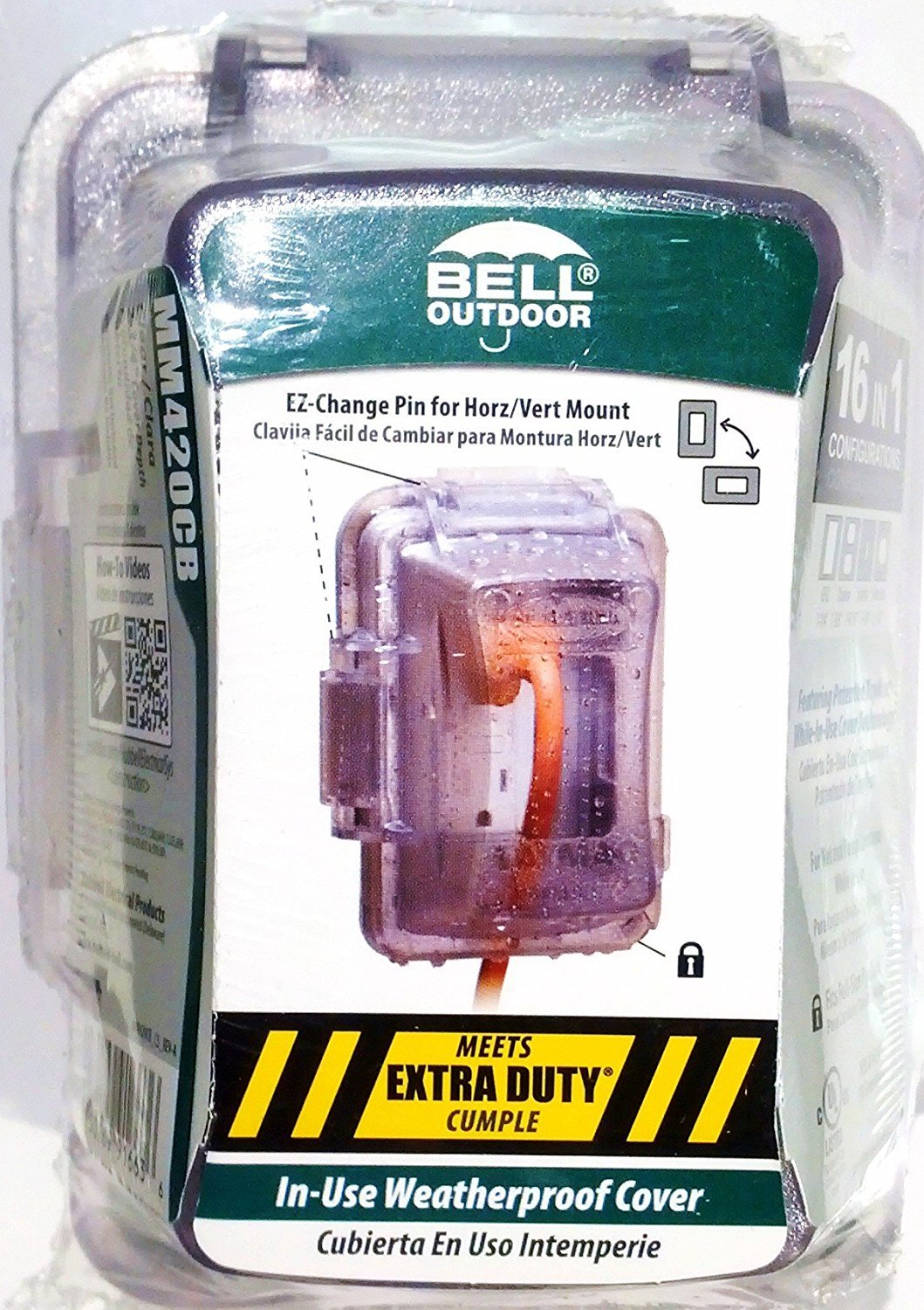 Hubbell Electrical Products In-Use Weatherproof Cover, Clear by Bell Outdoor