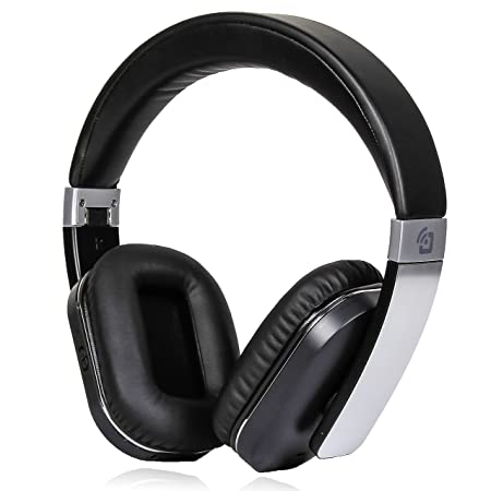 Review Active Noise Cancelling Bluetooth Headphones Wireless Canceling Microphone Low Bass Response APTX Hi-Fi Audio Over Ear Protein Ear Pads Foldable Hard Case Travel Work Computer TV Sports Steel Black