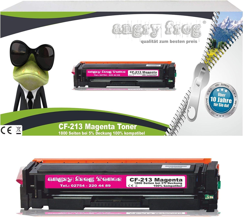 Magenta Toner compatible HP CF 213 A 1800 18001800 páginas 5% cubrirnos, fabricado en Alemania
