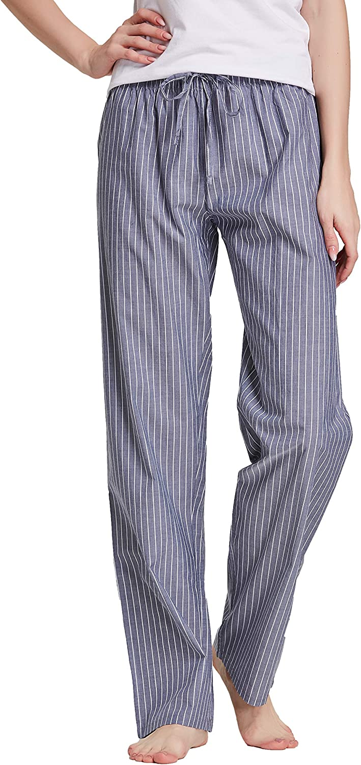 CYZ Women's 100% Cotton Woven Poplin Sleep Pajama Pants at  Women's Clothing store