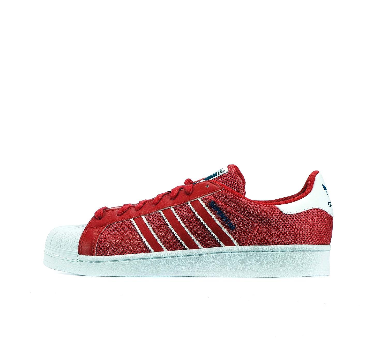adidas Originals Herren Sneakers Superstar Ray Blue S75881 Rot Blau Weiss Bb5394