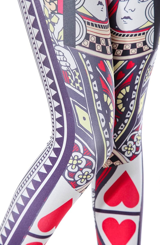 Amazon.com: badassleggings Leggings de reina de corazones ...