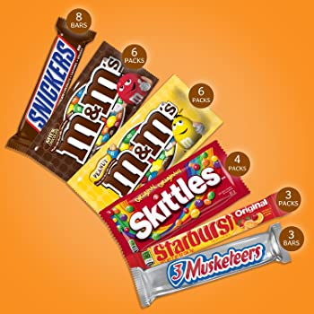 Assorted Chocolate Candy In 30 Full Size Counts 56.11-Oz.