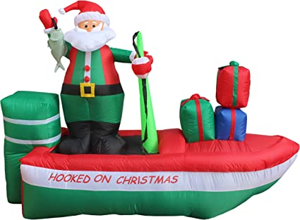 Amazon.com: 8 foot Papá Noel de Papá Noel hinchable larga en ...