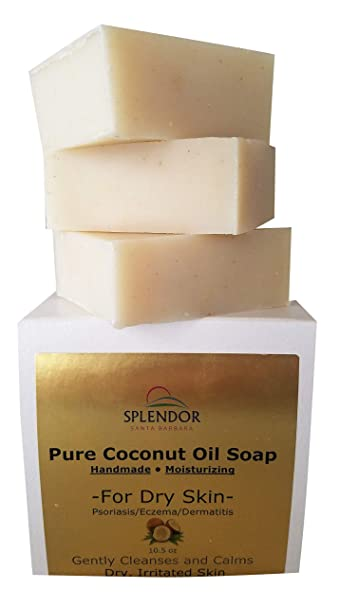 Moisturizing Coconut Oil Soap for Dry, Irritated, Itchy or Sensitive Skin - Organic Ingredients
