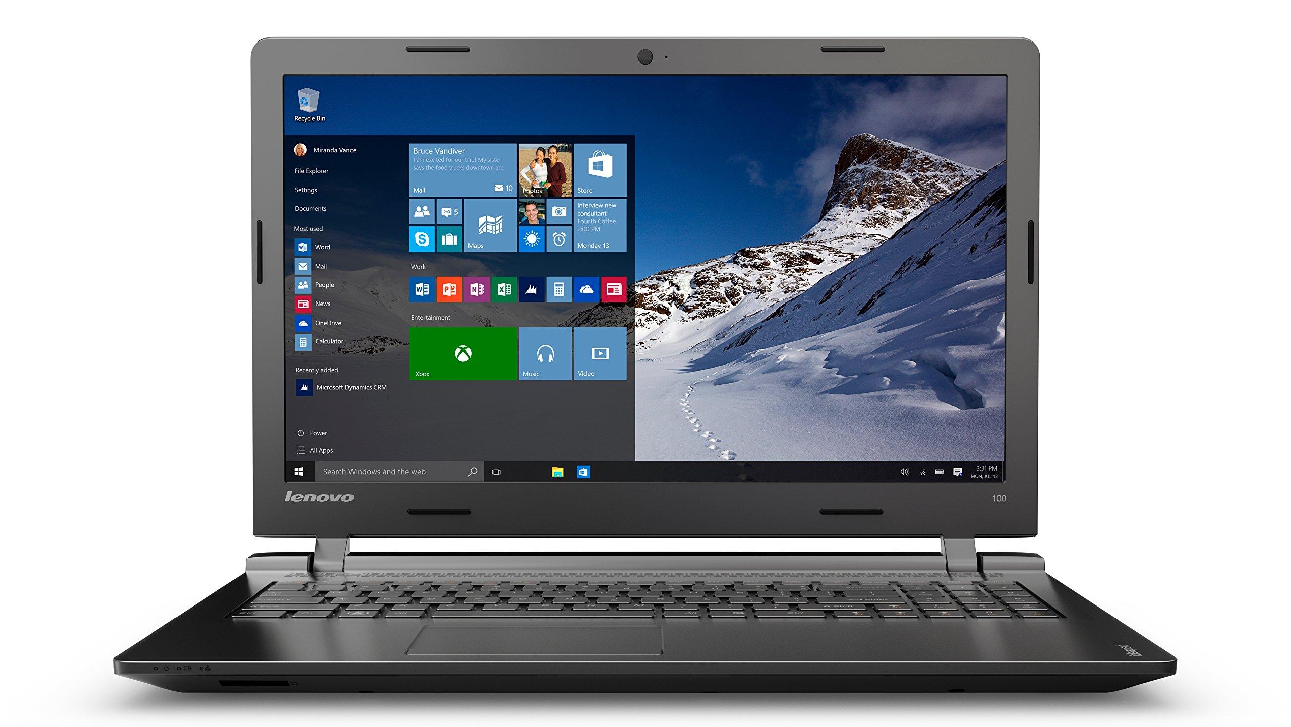 Lenovo IdeaPad 100 - Ordenador portátil Portátil, Negro, Concha, 802.11b, 802.11g, 802.11n, Intel Pentium, DDR3L-SDRAM, Teclado QWERTZ Alemán: Amazon.es: ...