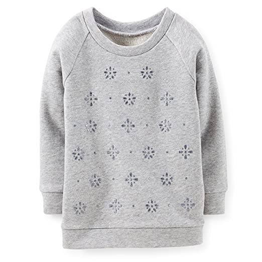 a3ca1f4b8fd Amazon.com  Carter s Little Girls  French Terry Sparkle Pullover Sweatshirt  (5 Toddler