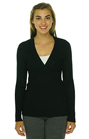 inc womens knit surplice pullover sweater at women s