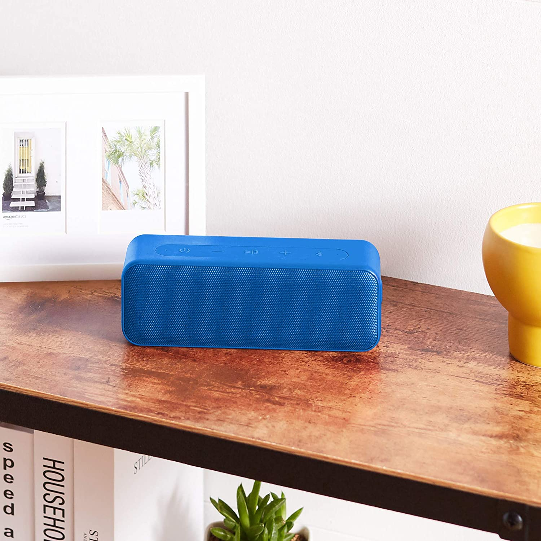 Red Basics 15-Watt Bluetooth Stereo Speaker with Water Resistant Design