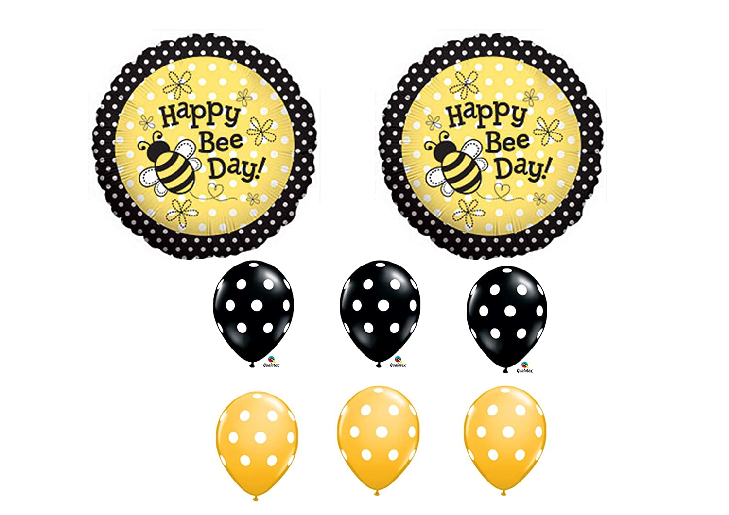 Amazon 1 X Happy Bee Day Birthday Buzz Bumble Bouquet Balloon Set Party Decoration By Anagram Toys Games