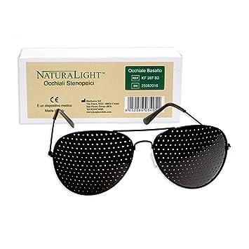 705a2e11c74 Pinhole Glasses - Basalto - Bates Method - Pinhole Holes Calibrated for  Distance Position and Pyramidal