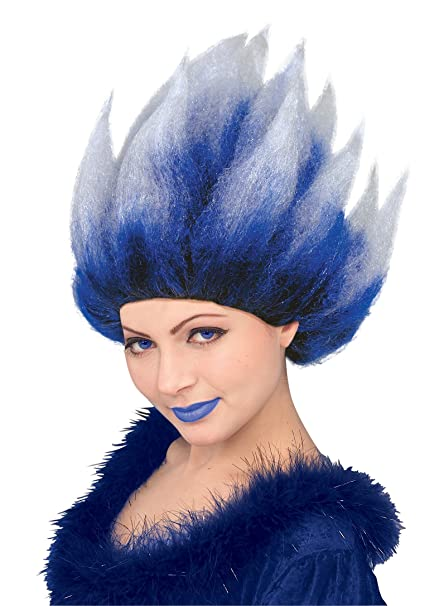 Amazoncom Fire N Ice Cool Blue Ice Queen Wig Unisex Clothing