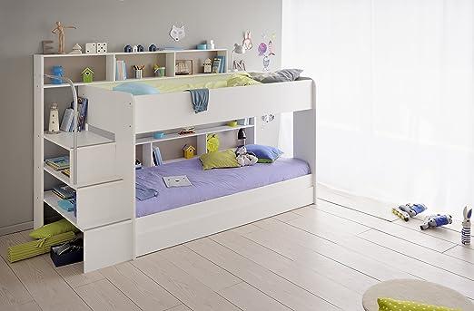 Etagenbett Aus Paletten : Kinder etagenbett weiß grau mit bettkasten treppe und
