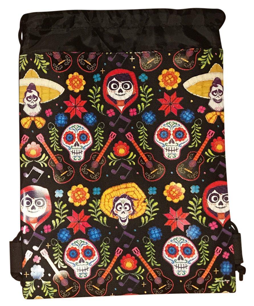 73aaf0c45f7 on sale Disney COCO Drawstring Backpack PIXAR Licensed Sling Tote Gym Bag  Remember Me (Black