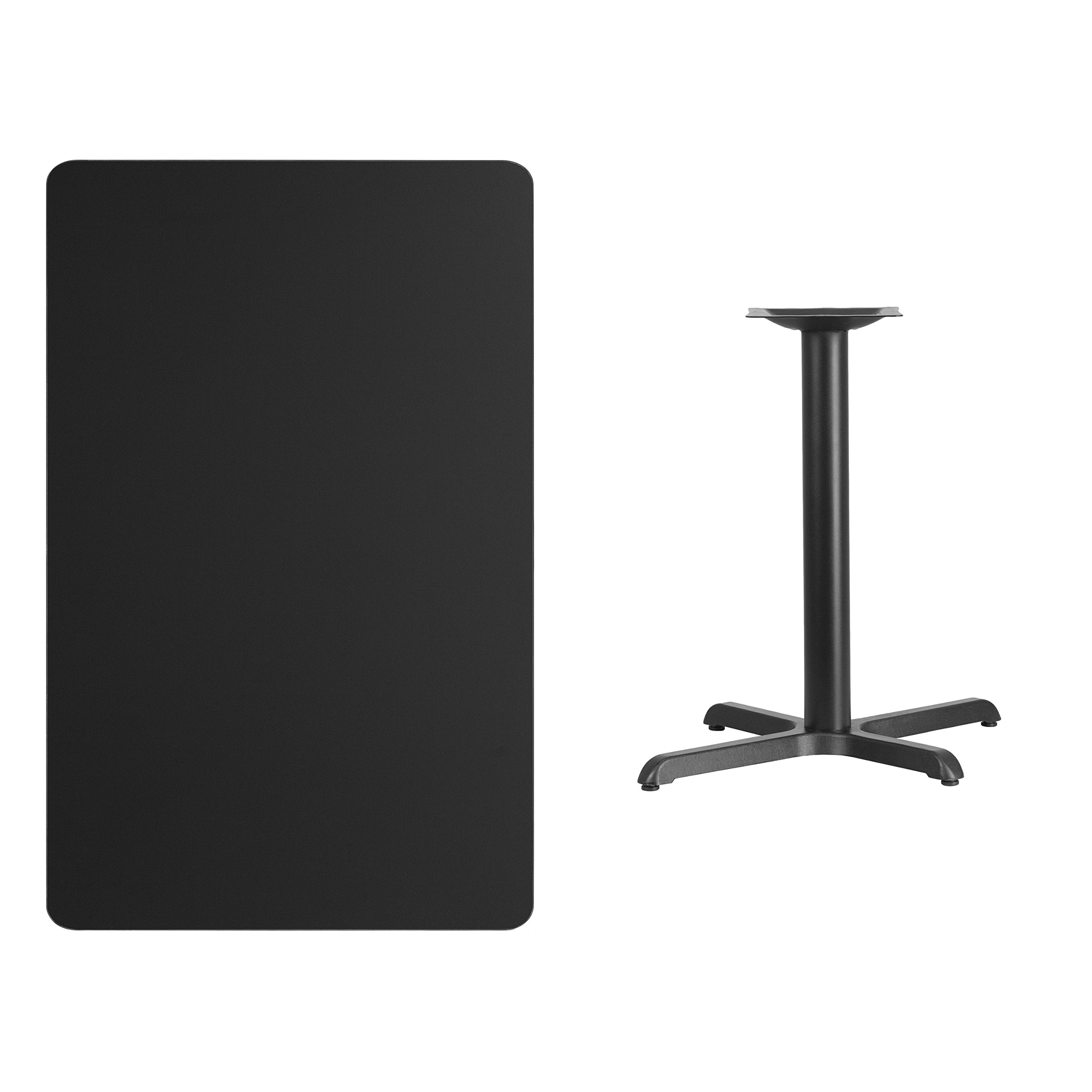 My Friendly Office MFO 30'' x 48'' Rectangular Black Laminate Table Top with 22'' x 30'' Table Height Base by My Friendly Office