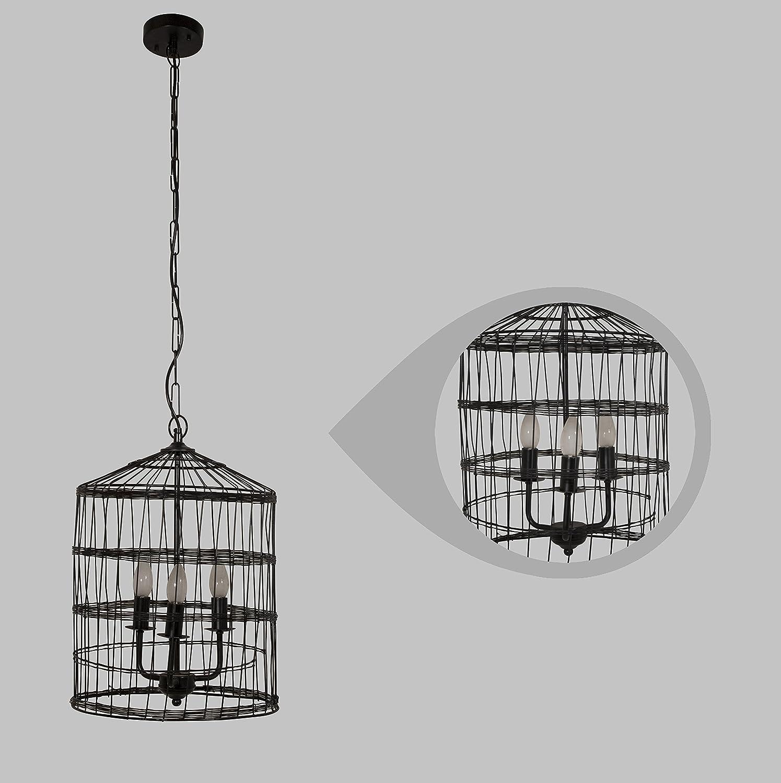 Buy Ujjala 3 Light Bird Cage Wire Pendant Hanging Lamp
