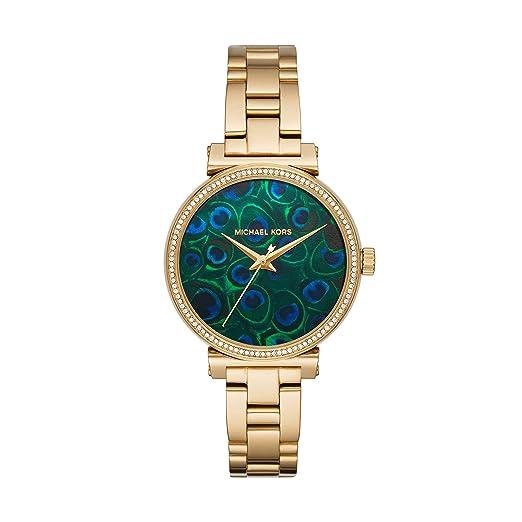 Amazon.com: Michael Kors - Reloj de cuarzo y acero ...