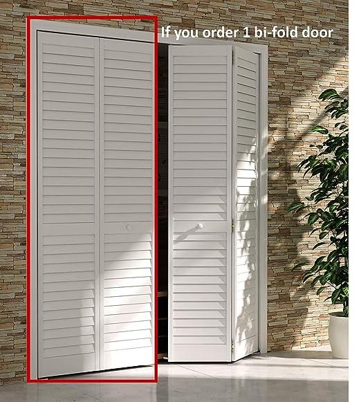 Bi Fold Closet Door Louver Plantation White 30x80