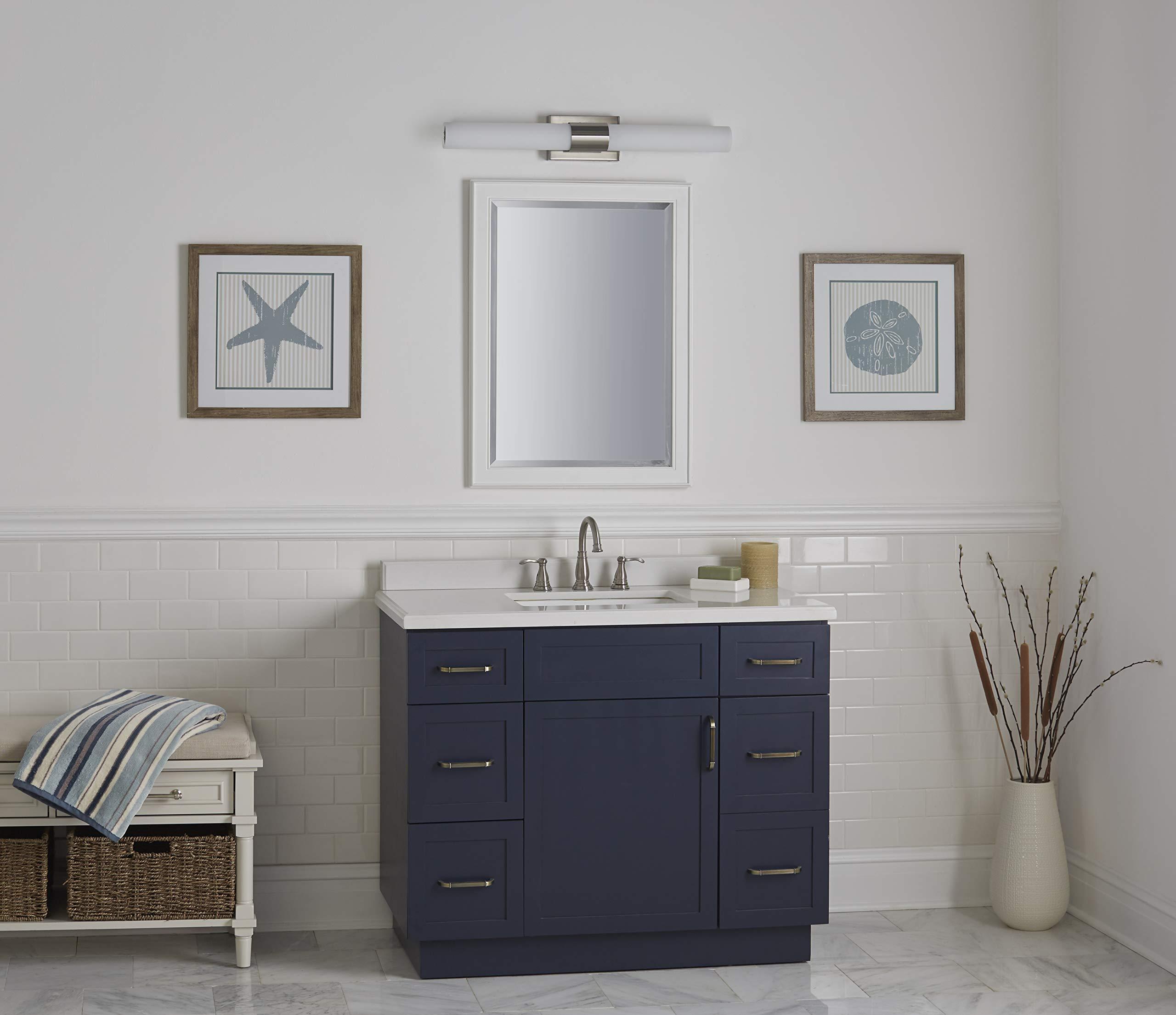 Perpetua 30 inch Integrated LED Bathroom Vanity Lights | Brushed Nickel Bathroom Light LL-SC1043-BN by Linea di Liara (Image #4)