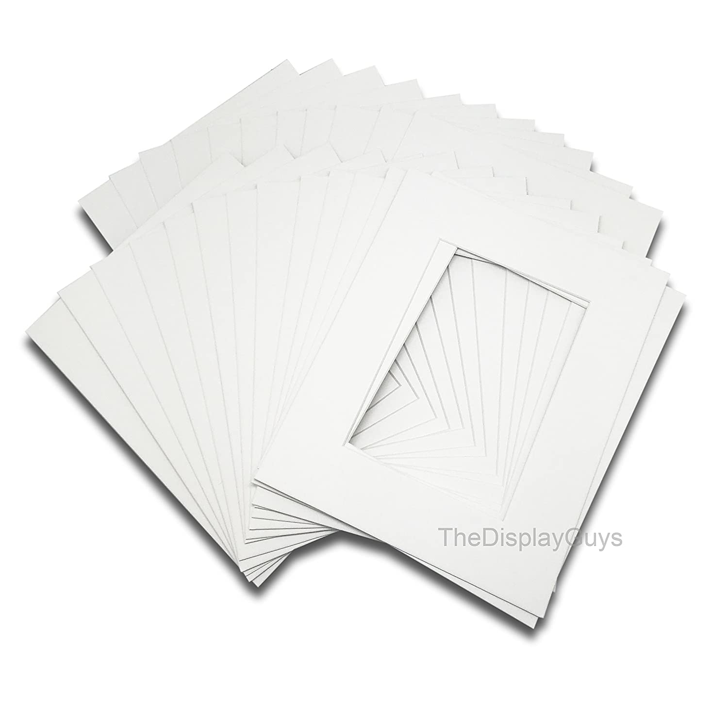 The Display Guys, Pack of 10pcs, Acid-Free White Pre-Cut 11x14 inches Picture Mat for 8x10 Photo with White Core Bevel Cut Frame Mattes 4336896142